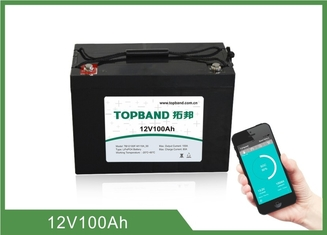 ABS Casing Bluetooth Lithium Battery 12V 100Ah For RV Camper / Caravan