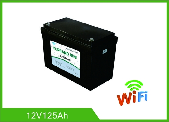 Auto Start Deep Cycle Lithium Battery 12V 125Ah LiFePO4 Material With WIFI Function